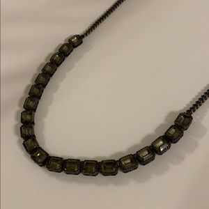 Fossil Grey Stone Necklace